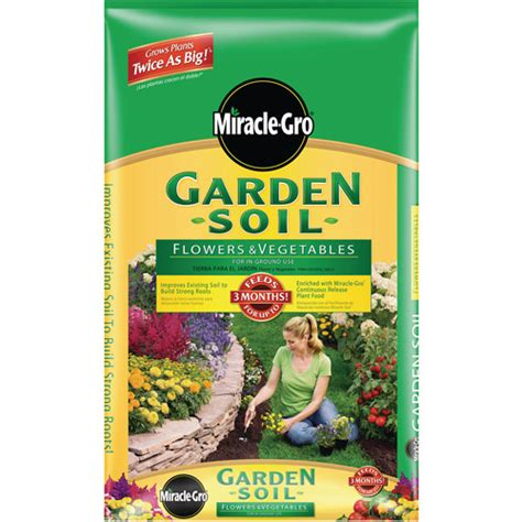 Miracle Gro Garden Soil Walmart by Miracle Gro Garden Soil For Flowers And Vegetables 2 Cu
