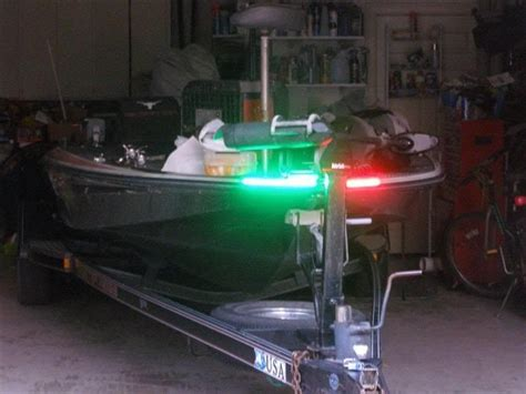 front boat lights boat led bow lighting red green navigation light marine