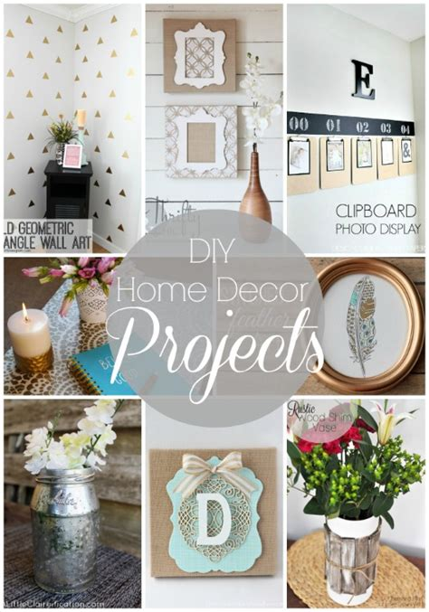 diy decor projects home 20 diy home decor projects link party features i heart