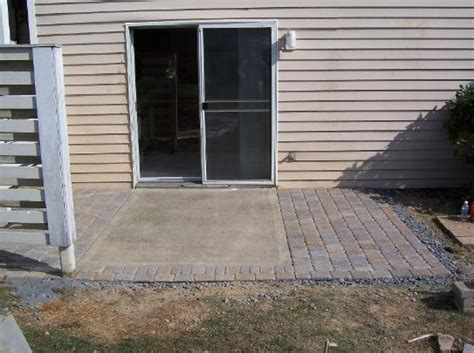 adding pavers to concrete patio how we do it