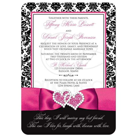 Damask Wedding Invitations by Wedding Invitation Photo Optional Black And White