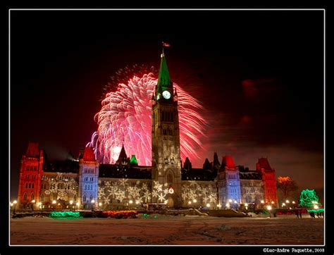 happy new year ontario canada photo parliament