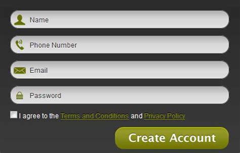 35 Bonitos Formularios Css Para Registros Y Login En Web Blog Webgenio Html Signup Form Template