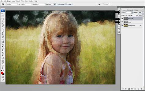cara edit foto photoshop lukisan cara membuat lukisan di canvas dengan photoshop