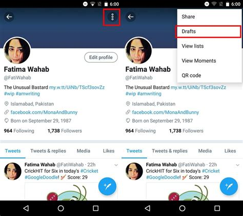 new twitter layout android where are draft tweets saved in the new twitter apps