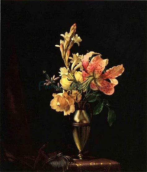 Vase Of Flowers Paintings by Flower Vase Painting Flowers In Vase