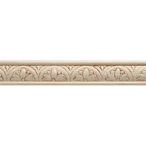 Home Depot Decorative Trim Ornamental Mouldings White Hardwood Embossed Blossom Trim Moulding 5 16 X 1 1 4 Sold Per 8