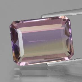 Bi Color Sapphire 2 21ct 5 2 carat octogone coupe 201 meraude 13x9 6 mm naturel and