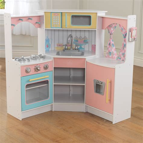 Kitchen Dollhouse Furniture kidkraft deluxe corner play kitchen 53368 pirum