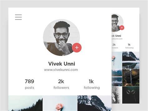 design instagram profile instagram user profile dribbble 006 by rahul chandh