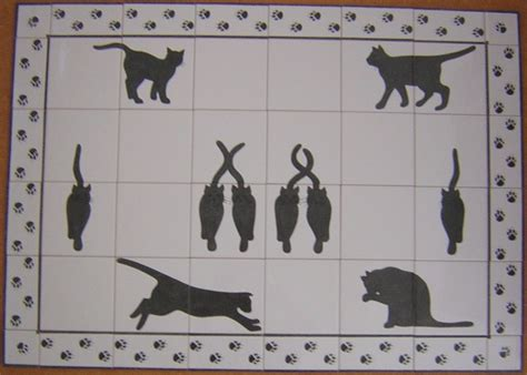 Cat Ct01 Black cat tile designs ceramic tile murals bespoke designs and