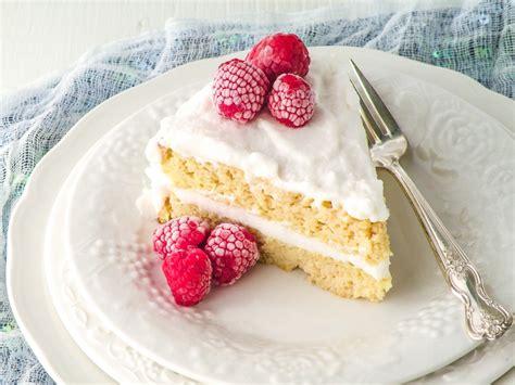 coconut flour classic vanilla cake from indulge cookbook