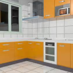Download l shape modular kitchen cabinets 3d model available in max