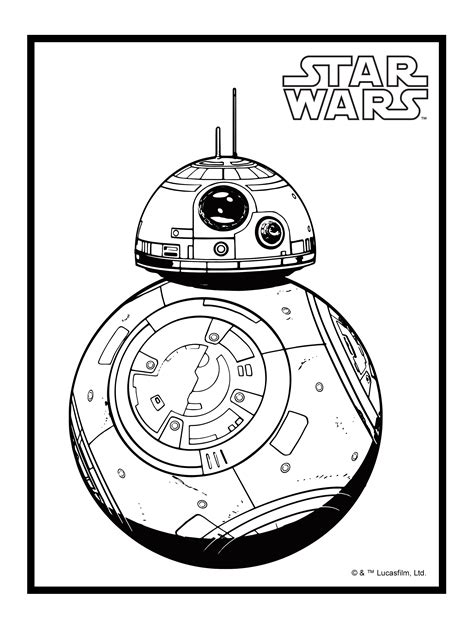 star wars bb 8 coloring pages bb8 coloring pages az coloring pages