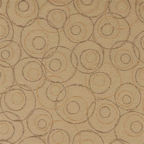 durable upholstery fabric beige brown and gold overlapping circles durable