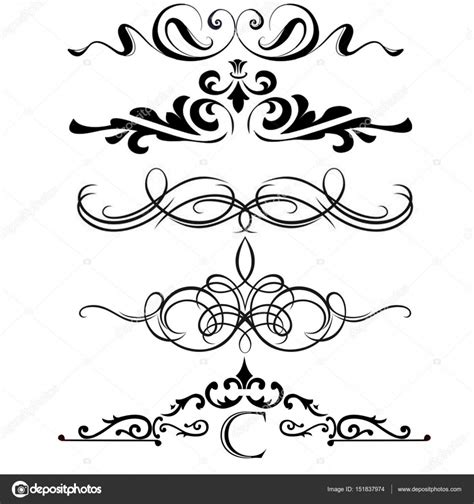 calligraphic text design elements vector calligraphic design elements page dividers with thai