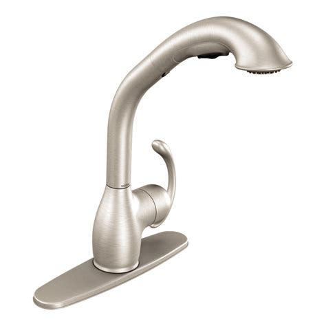 shop moen neva classic stainless steel 1 handle pull out
