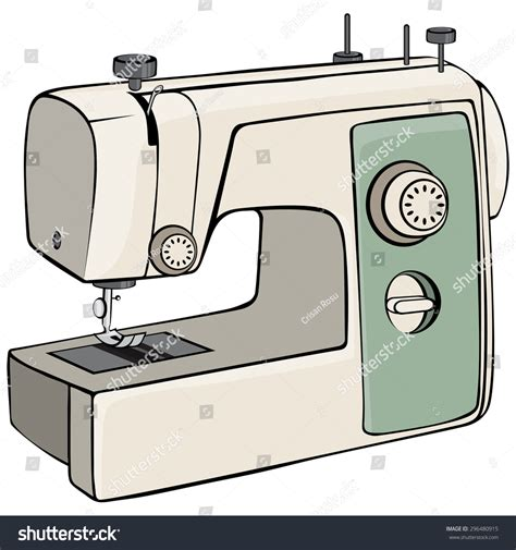 Mesin Graphic vector illustration sewing machine concept stock