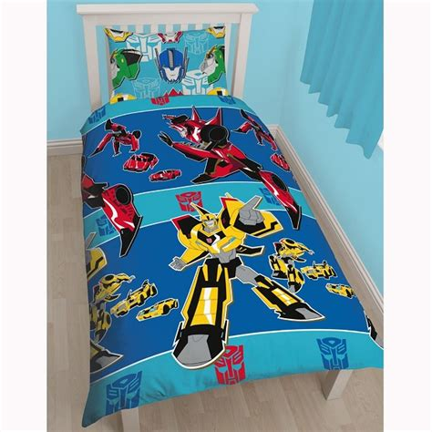 Toy Story Single Duvet Set Transformers Disguise Single Quilt Cover Kidscollections