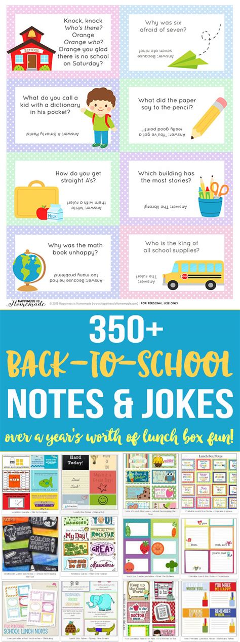 Back To School Lunch Box Jokes Notes Happiness Is Homemade   back to school lunch box jokes notes happiness is homemade