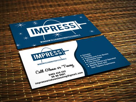 Free Window Cleaning Business Cards Templates by Window Cleaning Business Card Design For A Company By