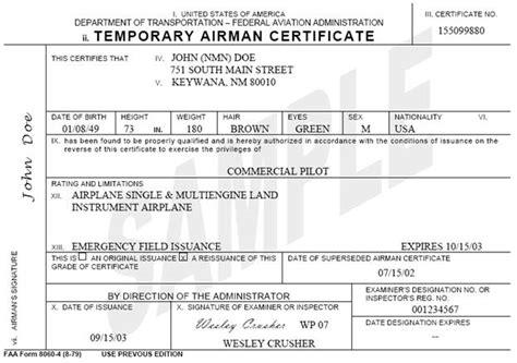 License Verification Letter Faa 8900 1 Vol 5 Ch 2 Sec 5 Miscellaneous Part 61 Certification Information