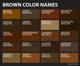 brown color names list of colors with color names graf1x