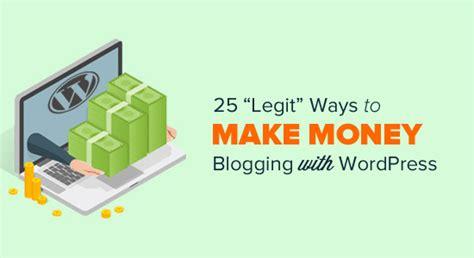 Money Making Schemes Online - 25 legit ways to make money online blogging with wordpress