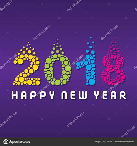 new year stock images happy new year 2018 poster design stock vector