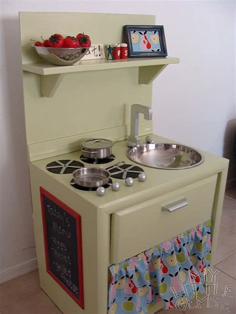 play kitchen from old furniture savvy housekeeping 187 child diy gift idea a fun and frugal play kitchen