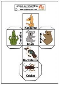 printable animal dice 17 best ideas about australia kids crafts on pinterest