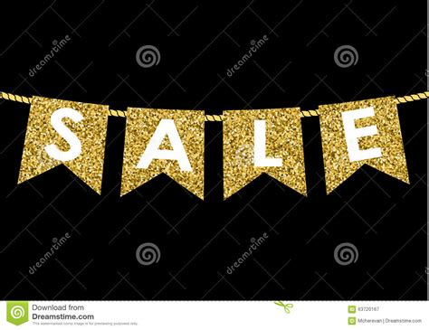 Sale Gliter gold flag garlands made of gold glitter texture sale