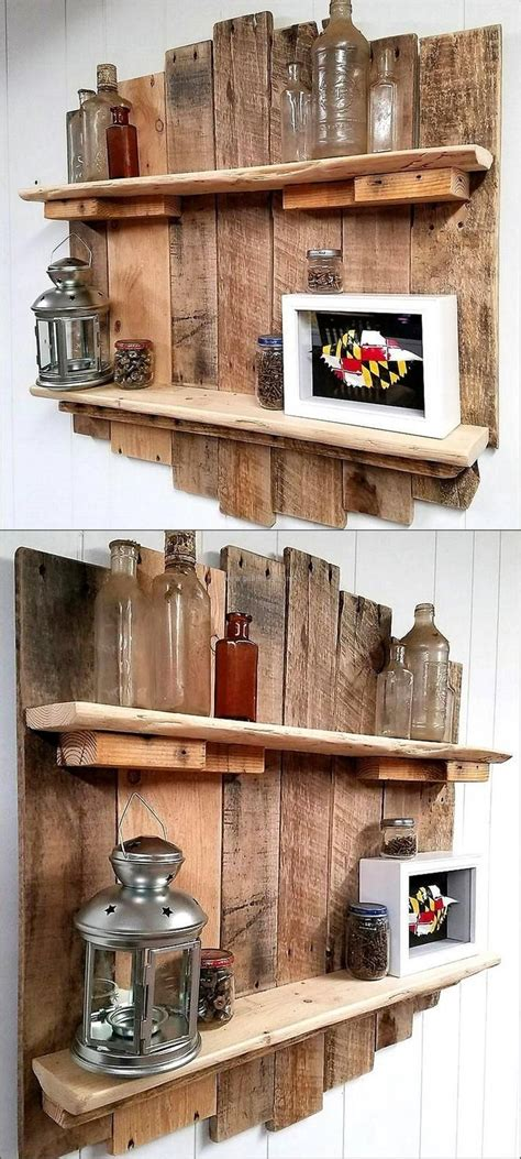 A Shelf Out Of A Pallet by Best 25 Pallet Shelves Ideas On Pallet