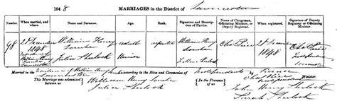 Marriage Records Tasmania 1821info1e Caleb Crompton Frances Lombe And Family