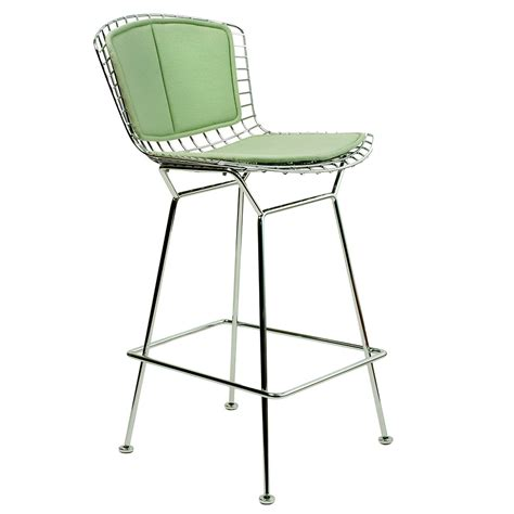 Bertoia Bar Stool With Seat Pad by Knoll Bertoia Bar Stool With Seat And Back Pad Utility