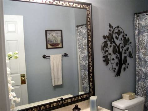 diy frame bathroom mirror home diy frame mirror with trim and tile diy pinterest