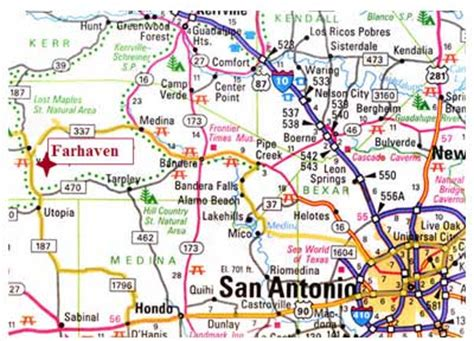 utopia texas map utopia texas map