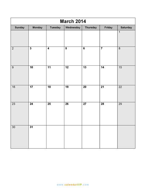 Calendar March 2014 March 2014 Calendar Blank Printable Calendar Template In