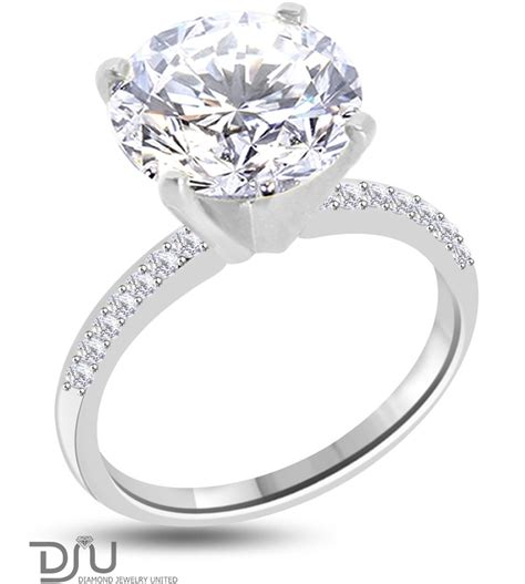 4 11 carat e si1 solitaire engagement ring