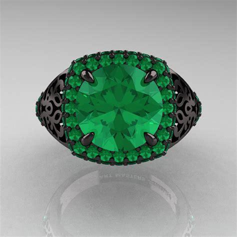 high fashion 14k black gold 3 0 ct emerald designer