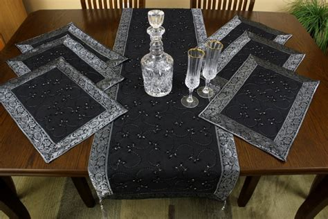 Table Runner And Placemat Set embroidered 7 placemat table runner set
