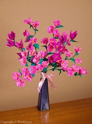 Origami Flower Arrangement - origami flower paper flowers