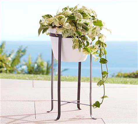 pottery barn planters blacksmith standing planter pottery barn