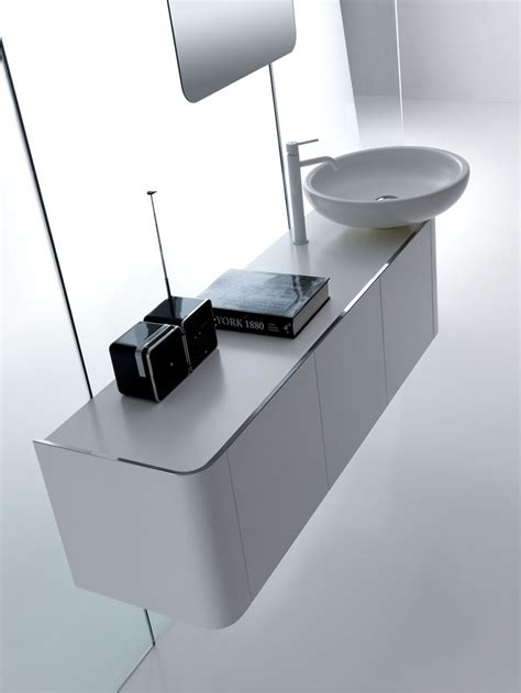 Modern Bathroom Cabinet by Rounded Bathroom Cabinets With Reduced Depth K08 From