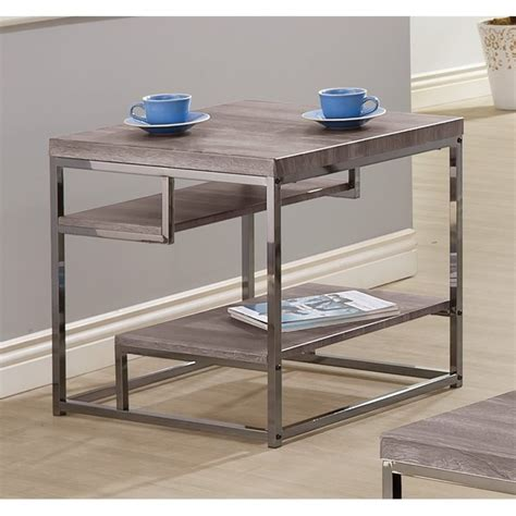 grey wood end tables coaster wood end table in grey 703727