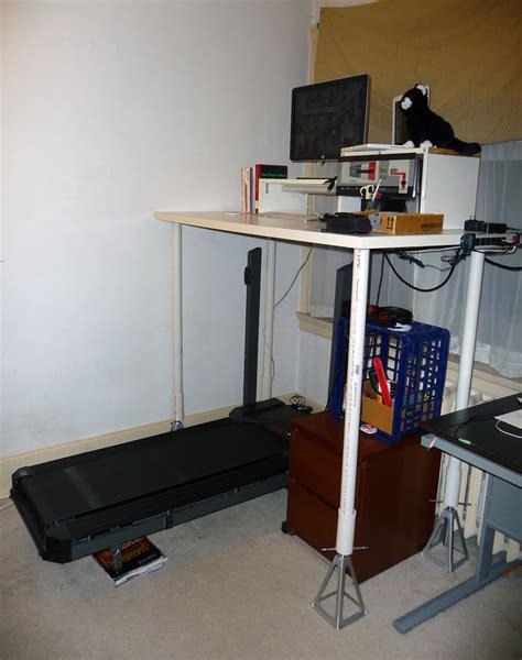 standing desk vs treadmill desk how i built my diy treadmill standing desk a k a dissertation writing battle station