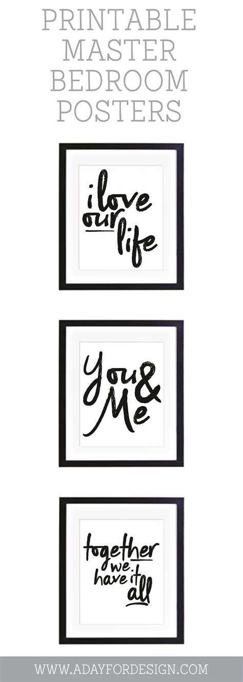 free printable wall art for bedroom i love our life printable poster a day for design