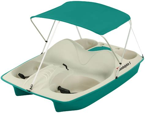 sun dolphin 5 seat pedal boat sun dolphin 5 seat pedal boat teal with canopy