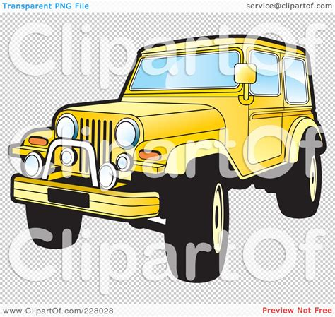 yellow jeep clipart royalty free rf clipart illustration of a yellow jeep