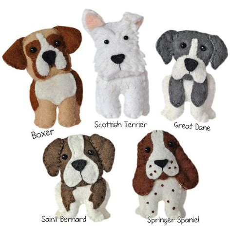 felt yorkie pattern cute plush dogs sewing pattern set two instant download